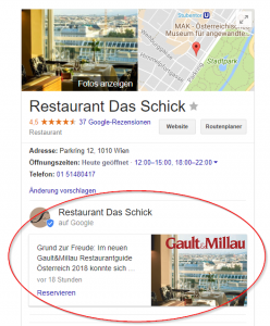 Postings bei Google My Business
