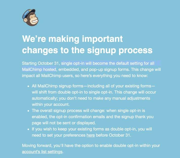 Mailchimp Double-Opt-In
